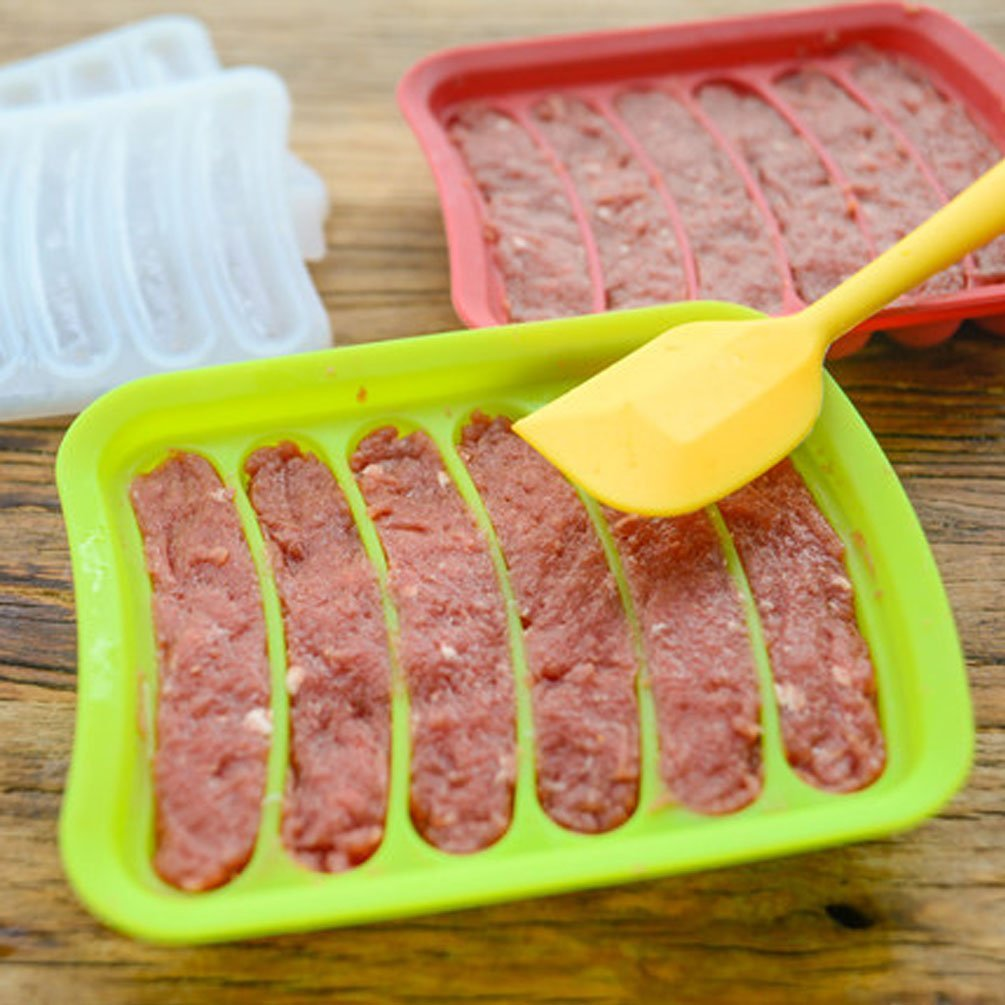 Wursthersteller wurst silikonform DIY hot dog handgemachte schinkenwurst, 6 in 1 Machen und Kühl Hot Dog (ferien beste geschenk)