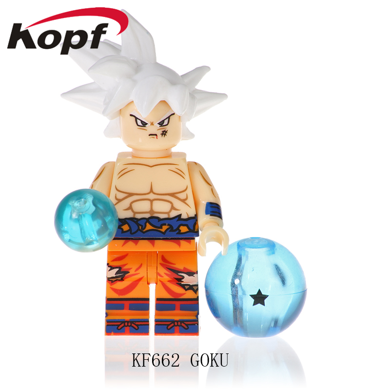 Single Sale Pretty Building Blocks Super Heroes Dragon Ball Series Son Goku Gotenks Vegeta Model Figures Children Toys KF662