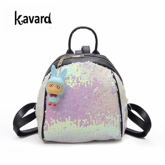 Kavard Pu Leather Backpack Purse Sequins Womens Backpack Bag Small Back  Pack Mochila Masculina New Backbag Sac a Dos Femme 2018 32973643e2c0