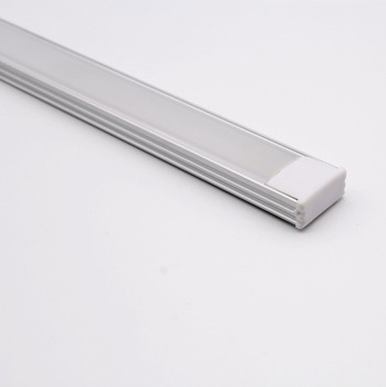 QSG-1707;LED aluminum profile(anodized silver color) with PC cover;for flexible or hard LED strips;led linear light profile