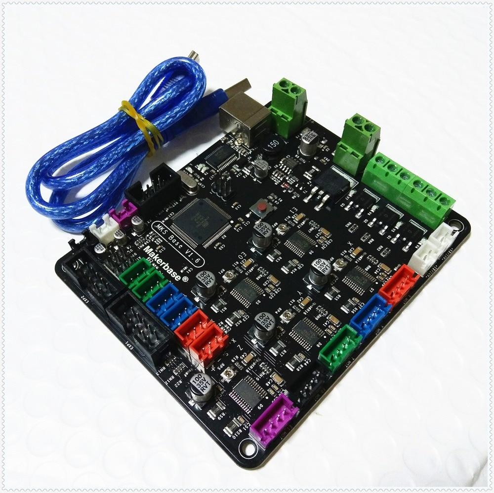 Carte mère MKS BASE V1.6 carte mère intégrée compatible Mega 2560 R3 & RAMPS1.4 plaque de contrôle d'imprimante 3d Marlin - 2