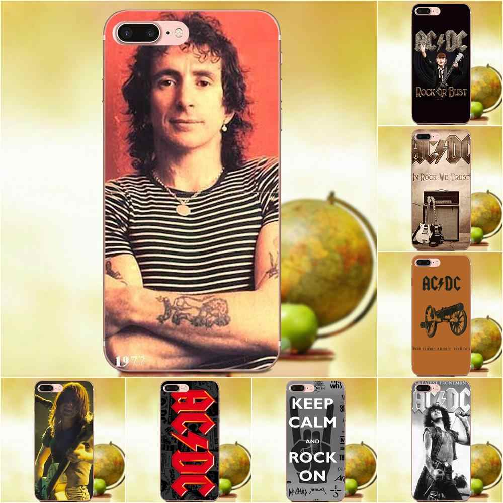 Acdc Rock Band For Apple iPhone 4 4S 5 5C 5S SE 6 6S 7 8 Plus X XS Max XR Soft Hotsales
