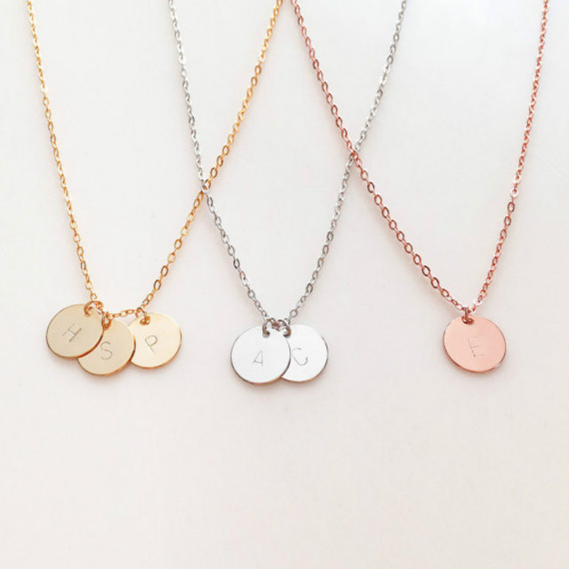 personalized gift for women personalized initial necklace letter