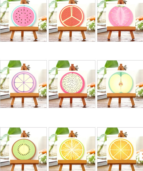 1packs/lot Sweet 3D Fresh Fruit Design DIY Cards Post Card Set Greeting Card Story Gift Greeting Card Postcards For Invitation