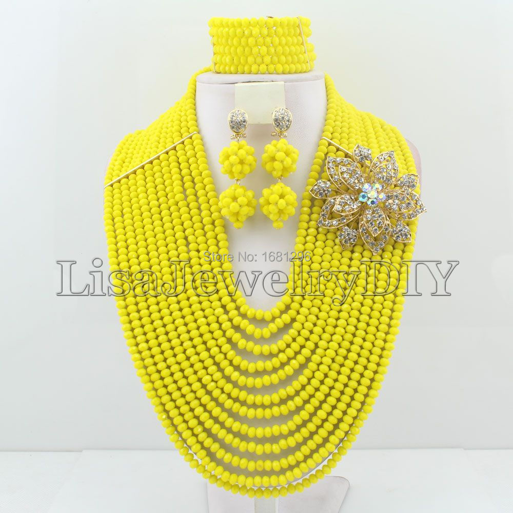 New Beads African Beads Jewelry Sets Nigerian Wedding African Crystal Beads Jewelry Set     HD1700New Beads African Beads Jewelry Sets Nigerian Wedding African Crystal Beads Jewelry Set     HD1700