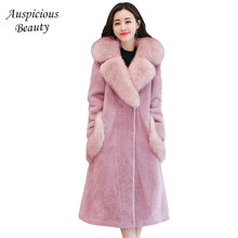 2017 New Autumn Winter High Quality Woolen Jacket Cashmere Coat Fashion Plus Size Wool & Blends Women Long Wool Coats TSL206