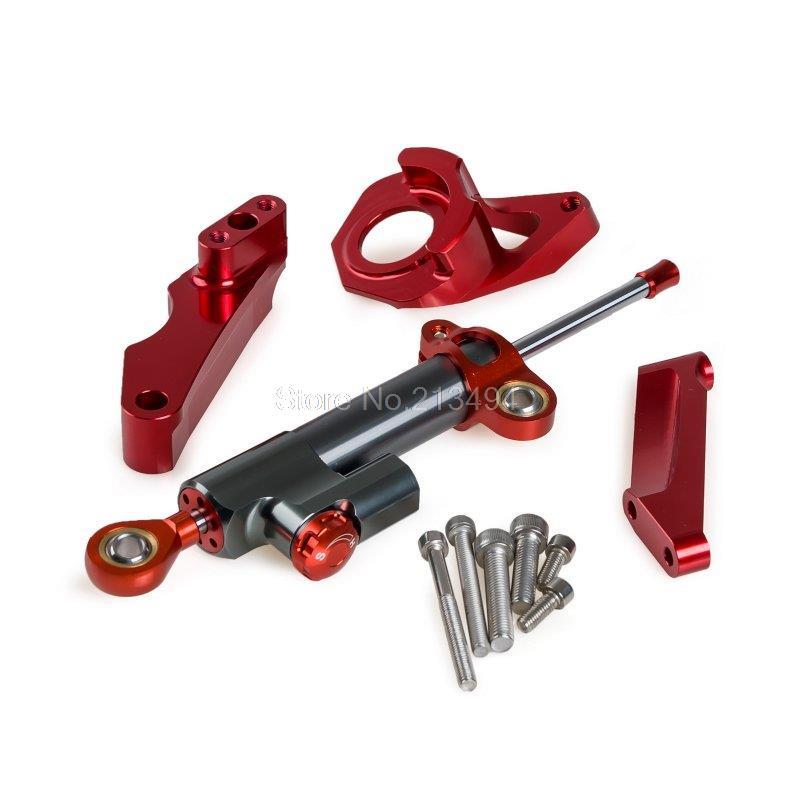 Красный с ЧПУ рулевой демпфер и Кронштейн Комплект для Suzuki GSXR600/750 2004-2005 К4 К5 хорошее качество инструменты