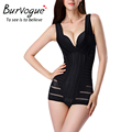 Burvogue mujeres fajas tummy control de underbust completo body suit talladora 2 colores chaleco body slimming underwear correctiva