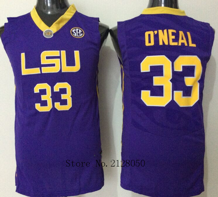 c6617620da4 Top Quality 100% Stitched LSU Tigers College Basketball Jersey  25 Ben  Simmons White Yellow Purple 33 Shaquille ONeal Jerseys-in Basketball Jerseys  from ...