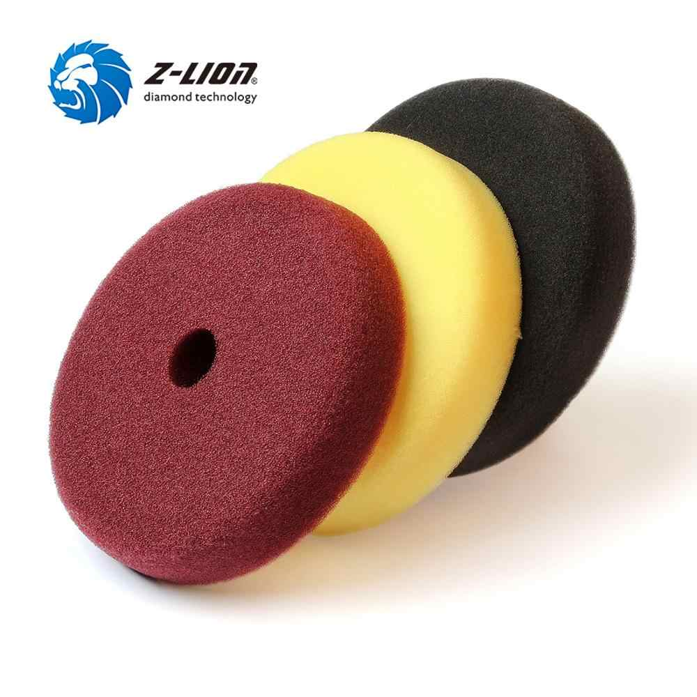 Z-LION 6 Inch 150mm 3 Pieces Foam Sponge Pads for Car Polishing Waxing Buffing Pads 3 Steps Set For Car Polisher Buffer