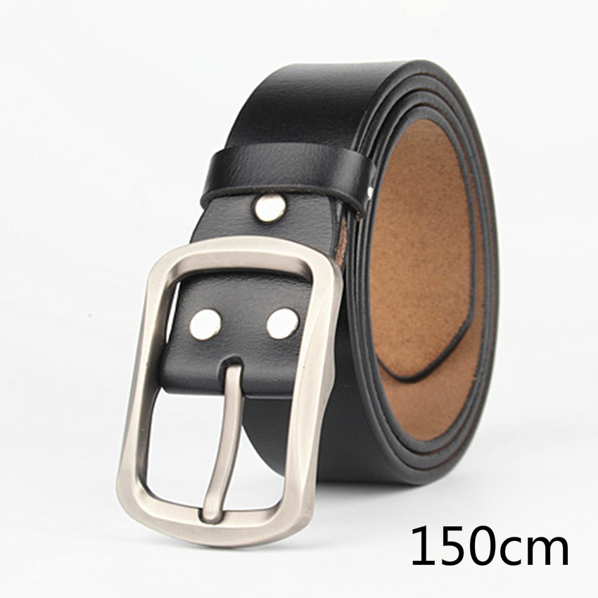 VOHIO mens belt increase men belt grow up the size men's leather belt pure cowhide 150cm 155cm military equipment free shipping