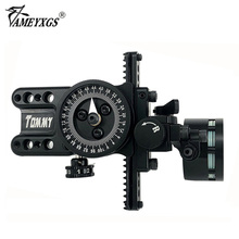 Archery 1 Pin Compound Bow Sight Set With 4X/6X/8X Lens Aiming light Adapter Stabilizer RH Micro Adjustable Pointer For Hunting scope 4x 6x 8x magnification compound bow sight optical fiber 1 pin translucent acrylic lens archery arrow aluminum hunting