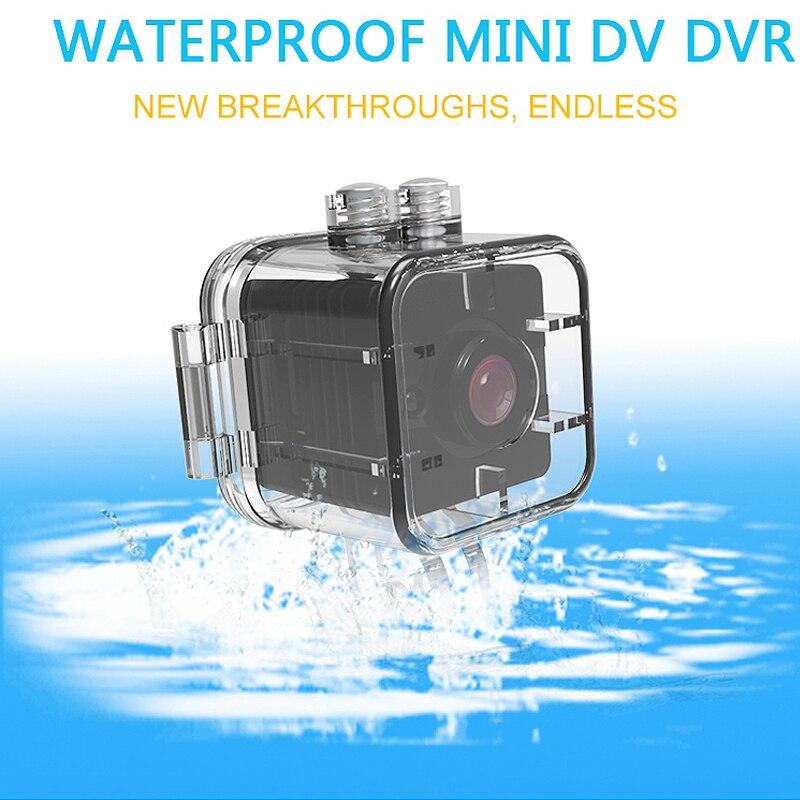 SQ12 Étanche Mini Caméra HD 1080 p Enregistreur Vidéo Numérique Sport Caméra Night Vision Détection Large-Angle Caméscope VS SQ11