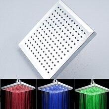 Livraison Gratuite Haut Quanlity 3 Changement de Couleur LED Tête De Douche Chrome Finition ABS En Plastique Matériel