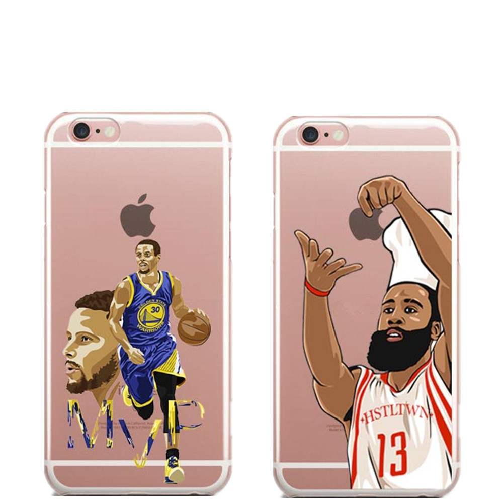 nba soft tpu phone cases nba star for iphone x 8 8 plus james harden michael jordan lebron cover. Black Bedroom Furniture Sets. Home Design Ideas