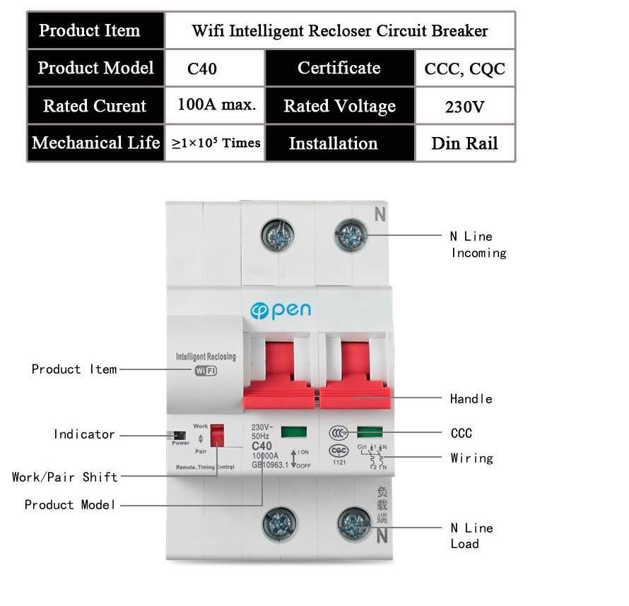 Abra 2 p 20a interruptor de controle