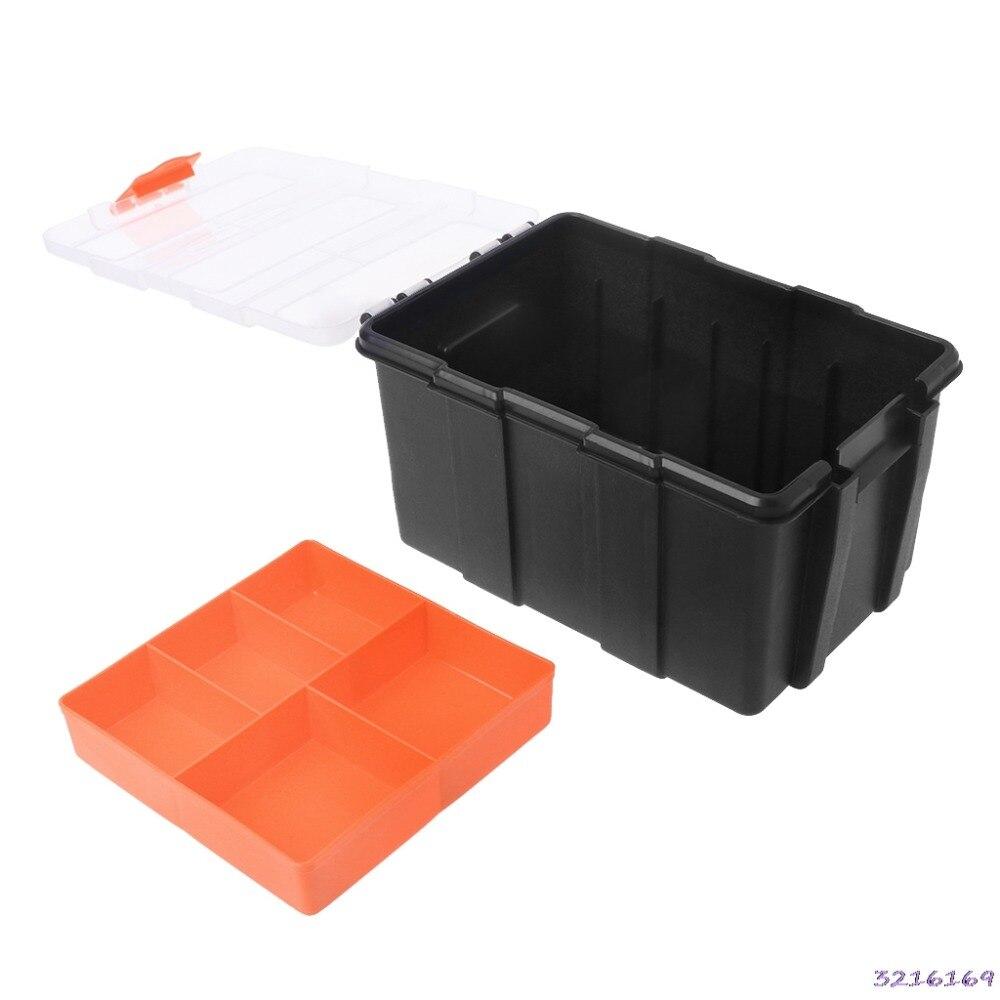 F-156D Hardware Box Transparent Multifunctional Storage Tools Case Plastic Organizer-38#