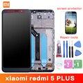 Оригинальный ЖК-дисплей и рамка, для Xiaomi Redmi 5 Plus, экран 10 точек касания, дигитайзер ЖК-дисплея, замена, ремонт, запасные части