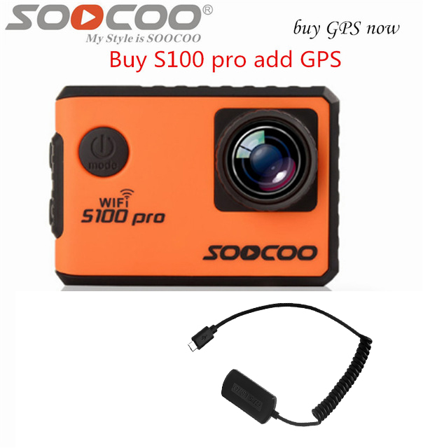 SOOCOO S100PRO 4K Sport Action Camera with Touch Screen and Gyro GPS Extension Model Voice Control 1080P Wifi waterproof Cam pro image