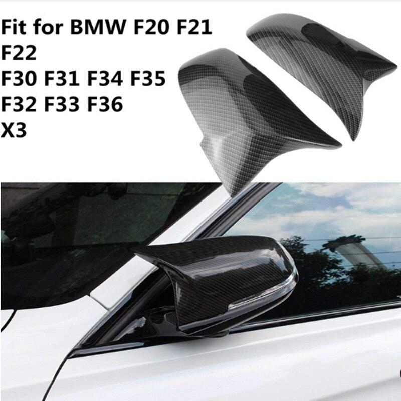 Capuchons de couverture de miroir de peinture noire ABS pour bmw F20 F21 F22 F23 F30 F32