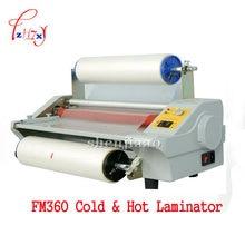 Máquina de laminación de papel A3, rollo para laminado en frío, cuatro rodillos, tarjeta de trabajo, laminador de archivos de oficina FM360 110v/220v