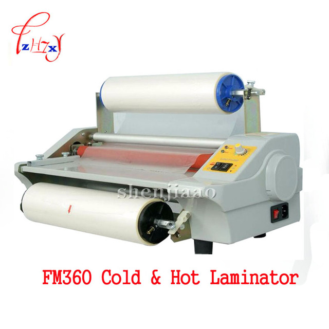A3 paper laminating machine,cold roll laminator ,Four Rollers,worker card,office file laminator FM360 110v/220v 1PC