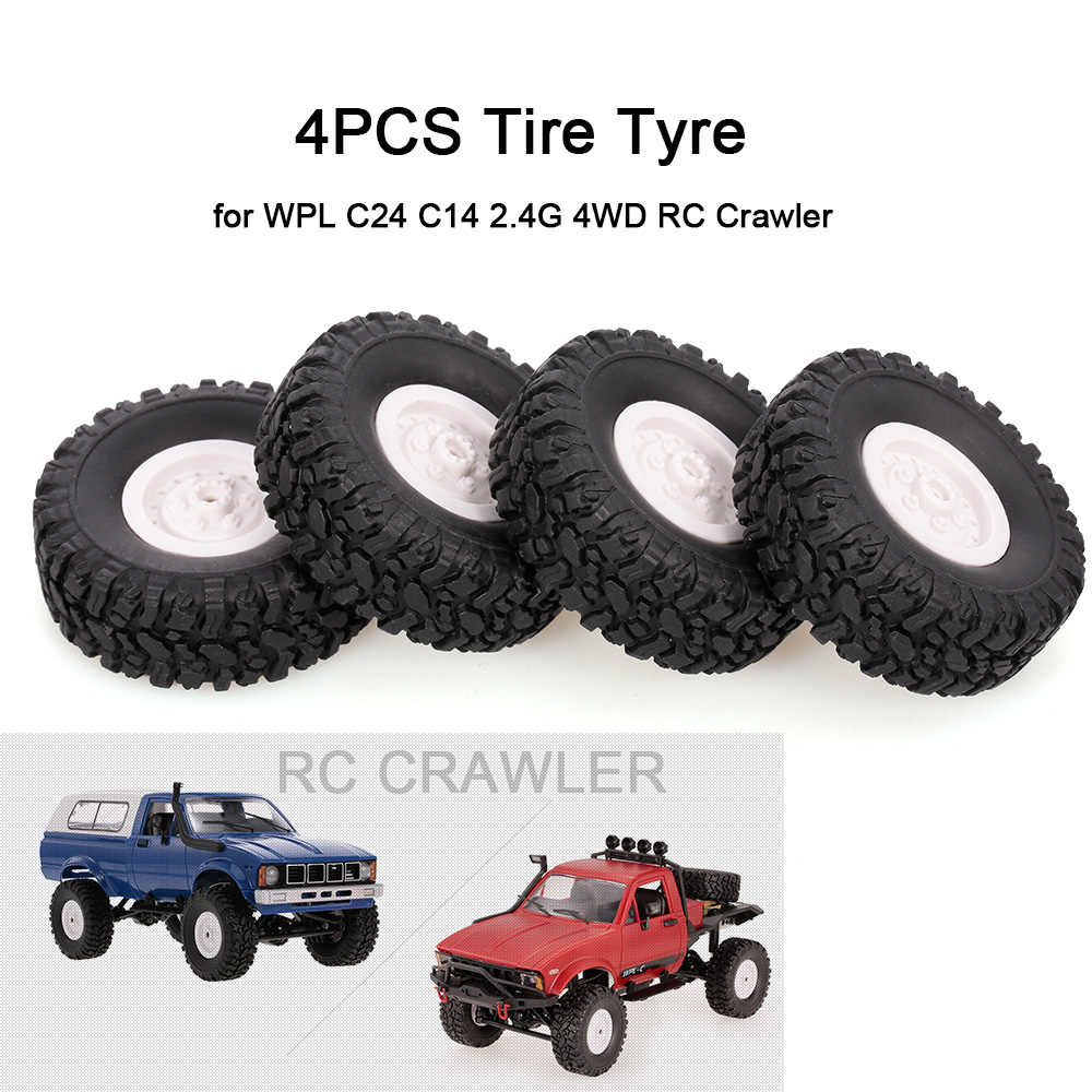 4 STUKS Auto Band Band voor WPL C24 C14 2.4G 4WD RC Crawler RC Cars
