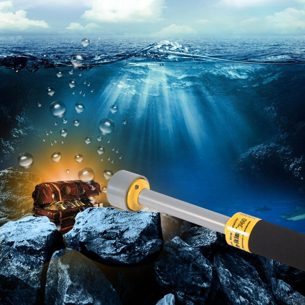 Waterproof Underwater Metal Detector Pi-iking 740 PulseTargeting Pinpointer Pro Pointer Technology Metal Detector цены
