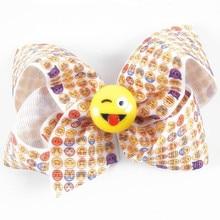 120pcs/lot  Emoji Hair Bow / Emoji Bows / Emoji Gifts / Emoji Party Hairbow