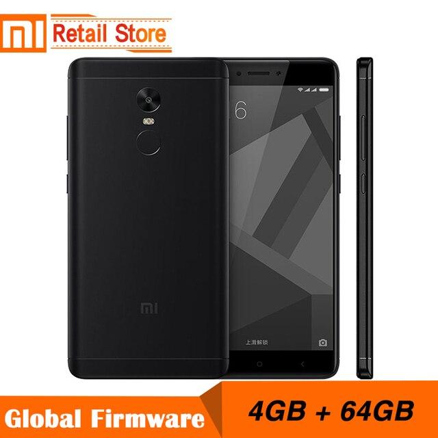 Оригинальный Xiaomi Redmi Note 4x4 ГБ 64 ГБ 5.5 дюймов Дисплей мобильный телефон 4 г MTK helio X20 дека Core 1920x1080 4100 мАч отпечатков пальцев ID