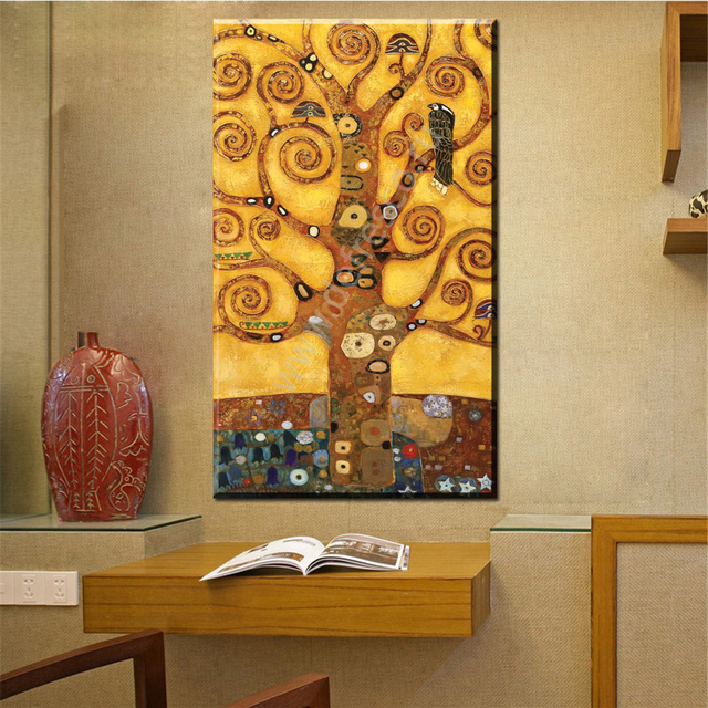 ZZ1597 wall art Decoration Painting Gustav Klimt big tree of life ...