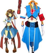 La melancolía de haruhi suzumiya haruhi suzumiya brigada sos super hero cosplay uniforme