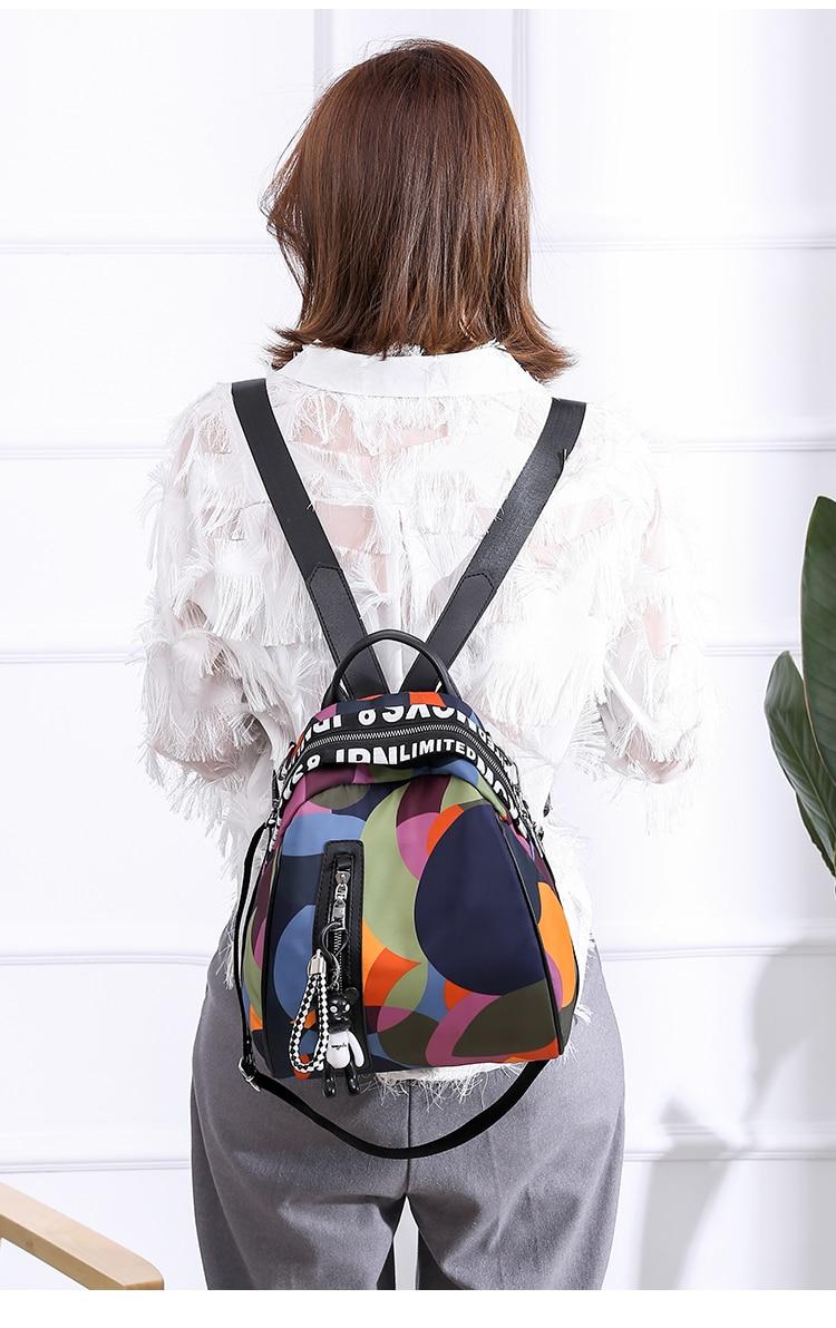 Waterproof Oxford Bagpack Female