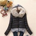 women winter parkas 2016 new Women Winter Coat Cotton Padded Jacket Short Knitted Fur Collar Womens Winter Jackets and Coats