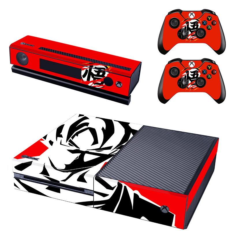 New Design Dragon Ball Skin Sticker for Xbox One Kinect and Console and 2 controller skin Stickers Decal Vinyl