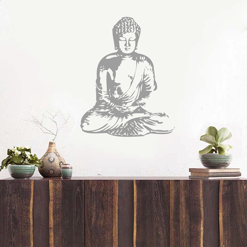 Free Shipping Vinyl Wall Sticker Buddha , Wall Decal Buddha Silhouette  India Asian Spiritual Awakened One Home Decor In Wall Stickers From Home U0026  Garden On ...