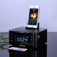 Portable Audio Music Wireless Bluetooth Speaker A9 NFC Radio Alarm Clock 8 Pin Micro USB Charger