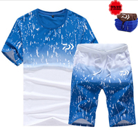 Fishing Suit Men Spring Summer Fishing Top Wear Quick Drying Breathable Anti UV Sun Protection Fishing T Shirt &Pant Free Gift