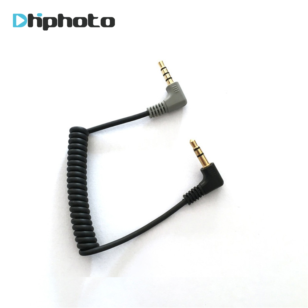 Ulanzi 3.5mm TRS To TRRS Patch Cable Adapter For RODE VideoMicro VideoMic Go BY-MM1 Microphone To IPhone 6 5 Android Smartphone