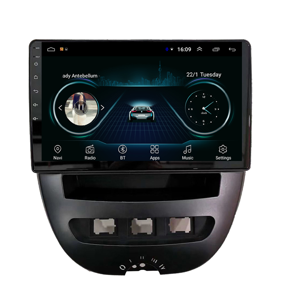 Car Radio With GPS Built-in Wifi Lossless Music Multi-touch Screen Resolution HD 1024 * 600 For Citroen C1 9inch Android 8.1