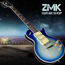 Neue art-nach LP e-gitarre, palisander griffbrett, 3 stück gitarre pickups, perfekten sound, schöne gitarre