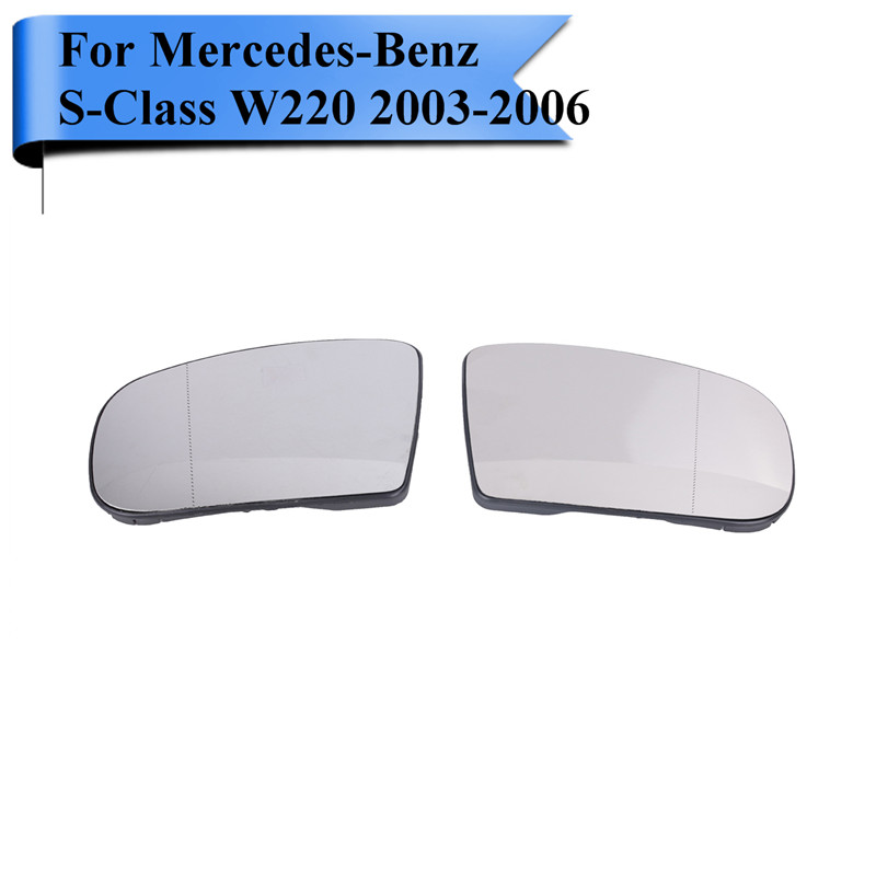 For Mercedes Benz CL Class / S Class W220 S350 S430 S500 S600 2003 - 2006 Wide Angle Heated Rearview Mirror Glass #W119