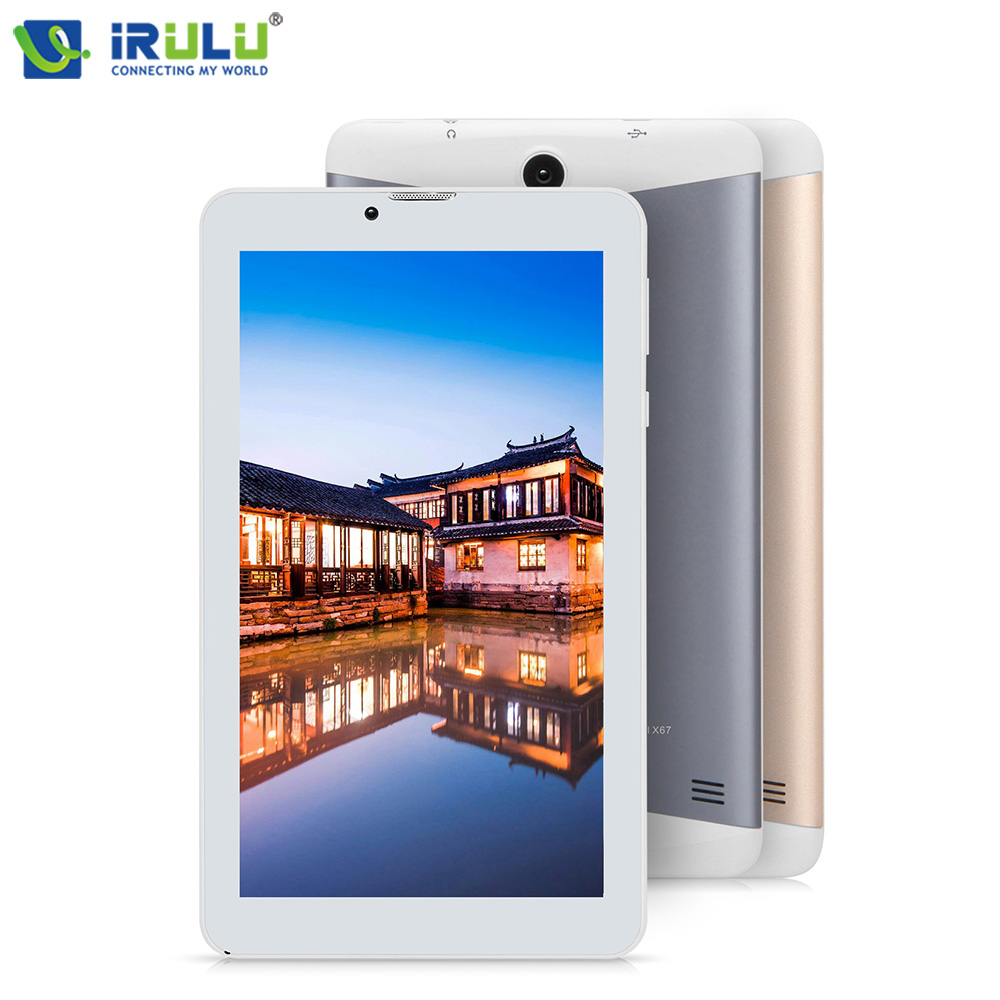 Original IRULU EXpro 6 7″ Tablet GMS Certificated Support 3G Tablet PC Android 7.0 Metal Back Cover 1GB RAM 16GB ROM Bluetooth