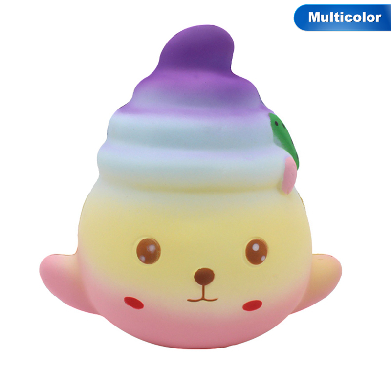 Squishy Slow Rising Poo Colorful Seal New Cute Rainbow Straps Soft Squeeze Kid Fun Toy Bread Cake Gift