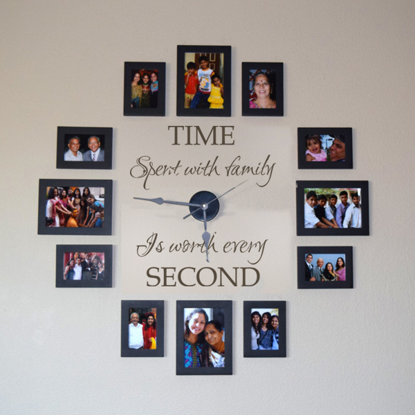 Time Spent With Family Is Worth Every Second Vinyl Wall