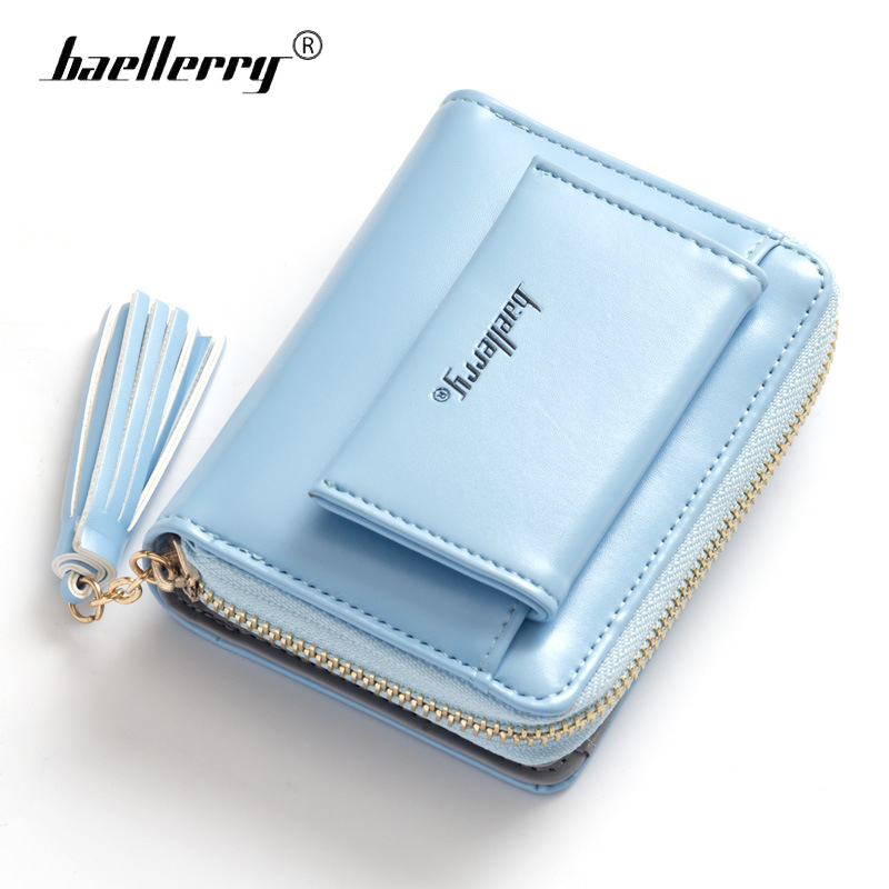 Baellerry Womens Wallets and Purses Lady Cute Small PU Leather Coin Purse Women Fashionable Money Wallet Card Holder with Tassel cute cats coin purse pu leather money bags pouch for women girls mini cheap coin pocket small card holder case wallets