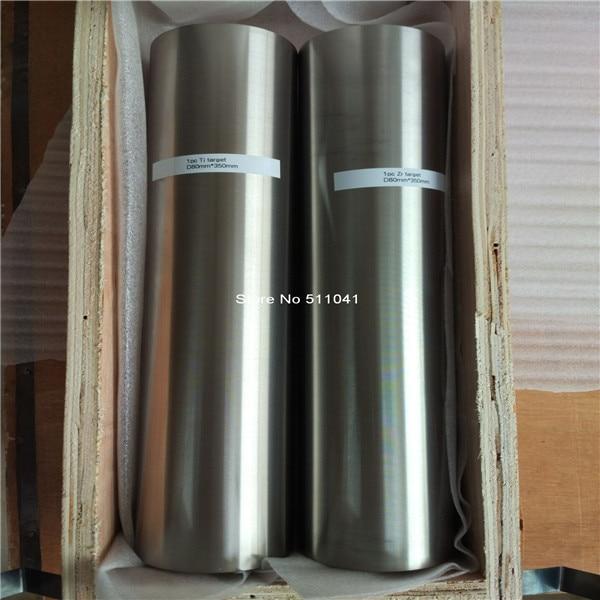 titan titanium bar rod target for Vacuum PVD 80mm diameter x 350mm length 1pc wholeasale free