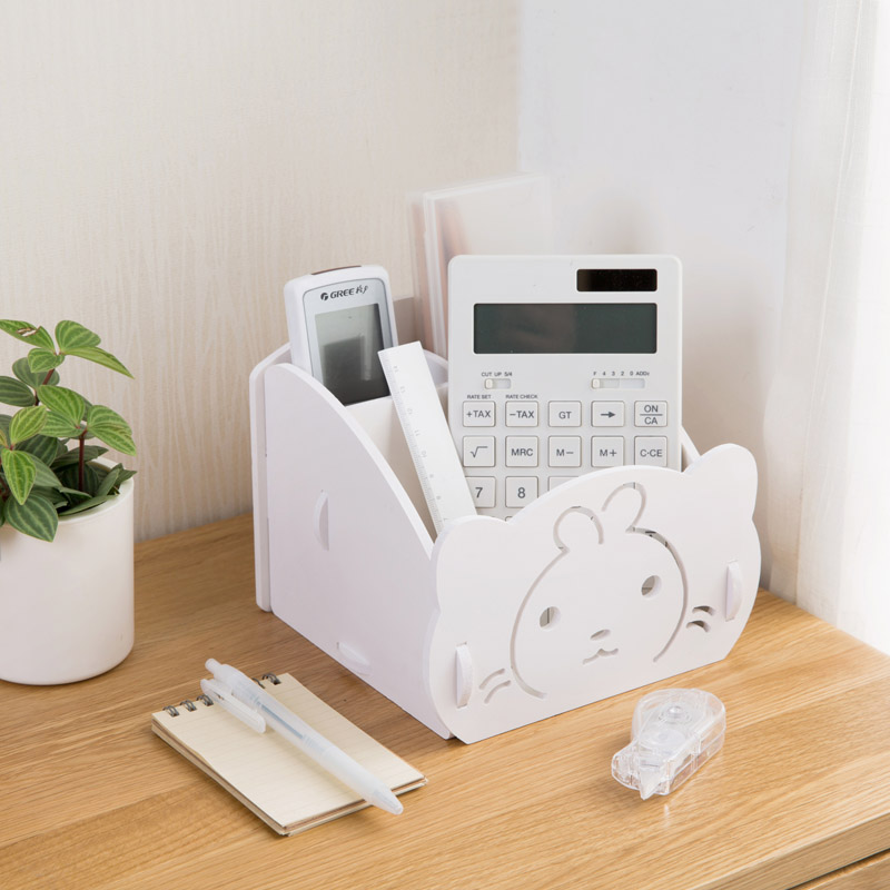 High Quality Luxury Cosmetic Organizer Remote Control Phone Holder Home Office Organizer Storage Boxes Pen Storage Rack 63549