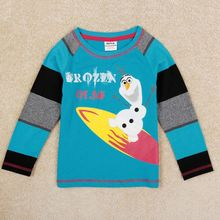 Boys clothes Olaf shirt boys t-shirts Nova kids 100% cotton shirts children clothing spring autumn kids baby boy tops A5401