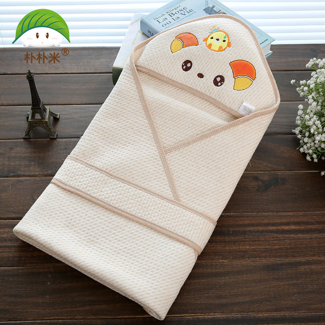 popomi Organic Colored Cotton Jacquard Weave Blankets Baby Cartoon Defence quilt bedding towel asket para bathrobe robe clothes